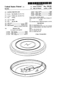 Patent Lighted Throwing Disc