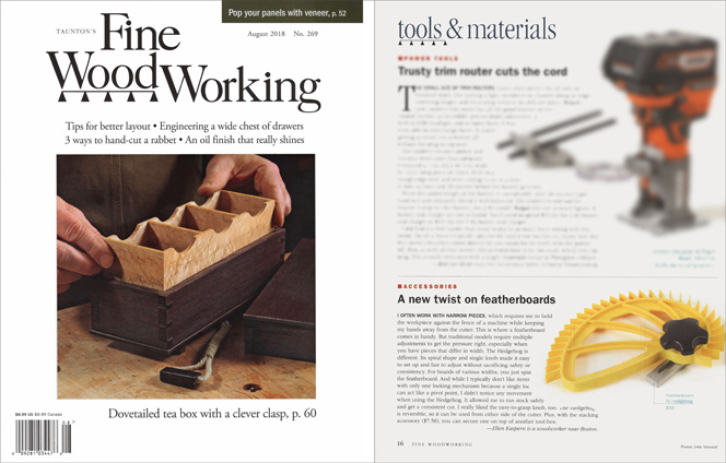 Fine Woodworking Magazine Hedgehog Review No 269 August 2018