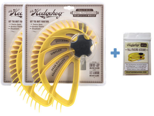 HB-130 Hedgehog bundle two featherboards plus tall stacking accessory