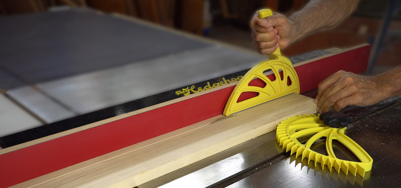 The Hedgehog push block and featherboard table saw
